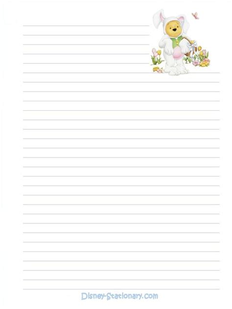winnie the pooh writing paper http disney stationary stationary easter pooh easter