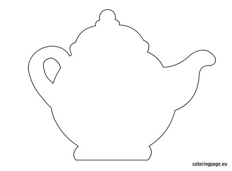 Teapot Card Template by Teapot Template Pencil And In Color Teapot