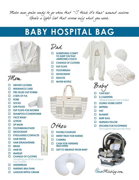 Hair Dryer In Hospital Bag what to pack in your baby hospital bag printable
