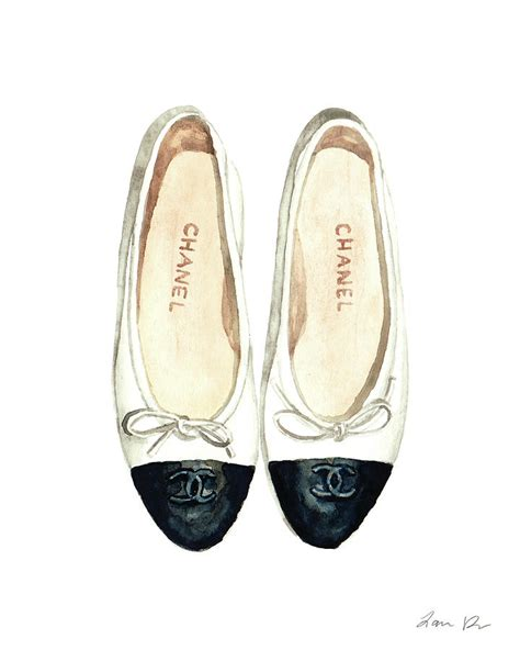 chanel ballet flats classic watercolor fashion