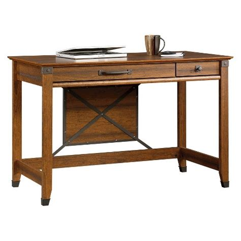 sauder carson forge desk carson forge writing desk with slide out keyboard shelf