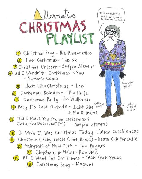 alternative christmas playlist editorial bandwagon
