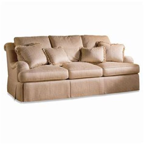traditional sofas with skirts sherrill traditional camel back sofa with rolled arms and