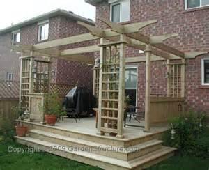 Pergola Deck Plans by Simple Deck Designs Free Simple Deck Plans Woodworking