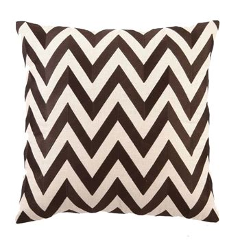 Chn Longtop Zig Brown 1 brown zig zag embroidered pillow pulp design studios