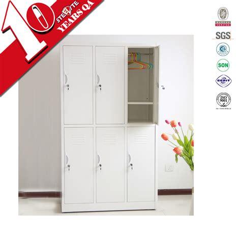2 layer 6 door student metal wardrobe six compartment