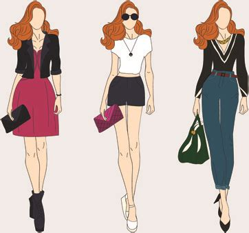 fashion clipart free clip fashion model silhouette free vector