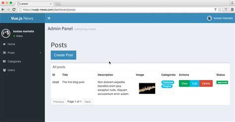 blog tutorial in laravel 5 build a laravel and vue js blog with vuedo angular books