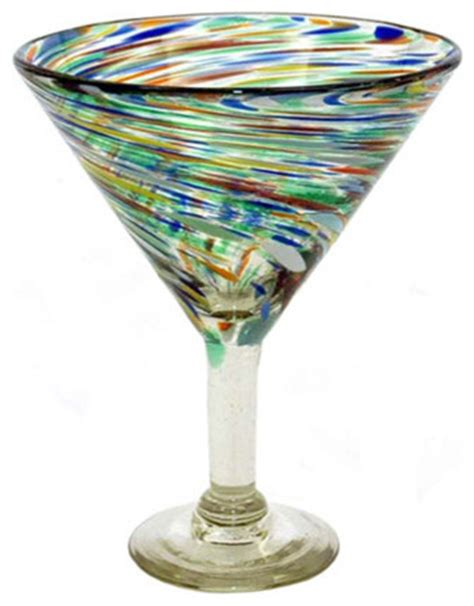 Contemporary Cocktail Glasses Bambeco Carnival Martini Glass Contemporary Cocktail