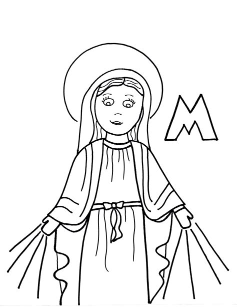 coloring pages mary the mother of god