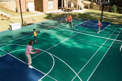 sports courts for backyards bring the game home with a backyard sports court hgtv