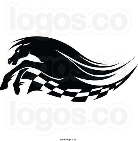 car logo black and white mustang horse logo clip art
