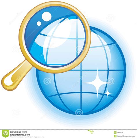 Global Search Global Search Glossy Vector Icon Royalty Free Stock Photos Image 5950858