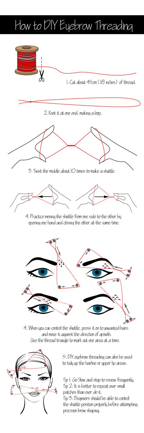 How To Arch Eyebrows At Home by How To Do Eyebrow Threading At Home For Eyebrows Shape