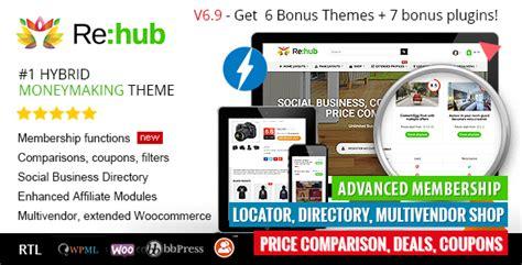 theme wordpress vendor rehub v6 9 8 1 price comparison affiliate marketing