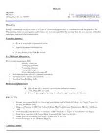 cover letter for hr fresher resume format for hr fresher resume exles 2017