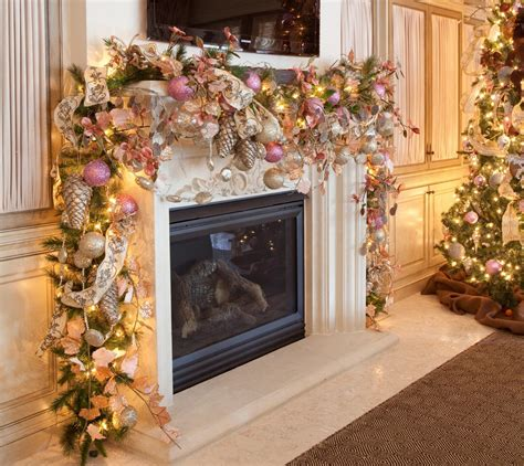 romantic christmas mantel decorations interior design ideas