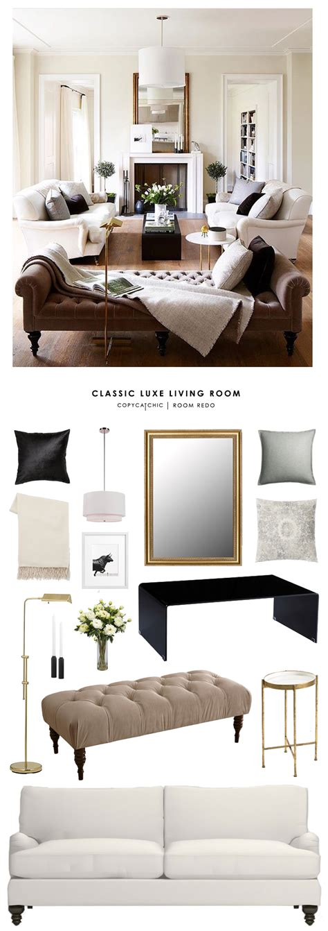 luxe home decor copy cat chic room redo classic luxe living room copy