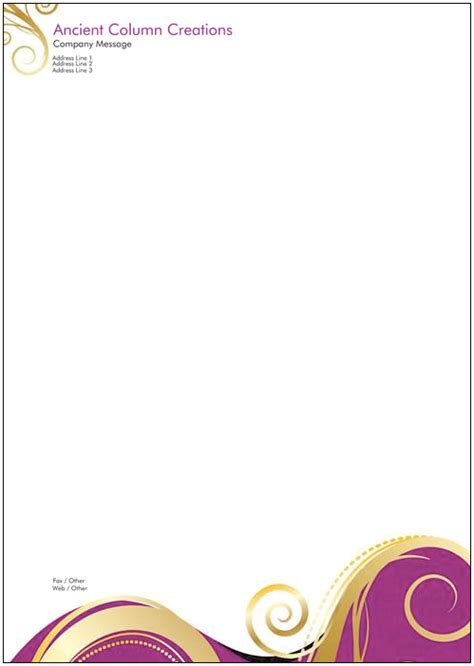 free invoice templates custom printed letterhead design