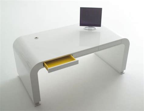 contemporary white desk rooms
