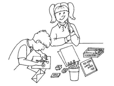 imagenes de niños trabajando matematicas para colorear pintando y coloreando dibujos de estudiantes