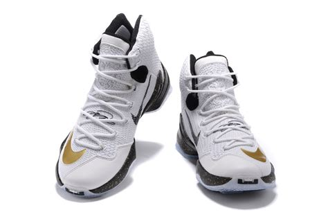 lebron high top sneakers lebron 13 white gold blue high top shoes