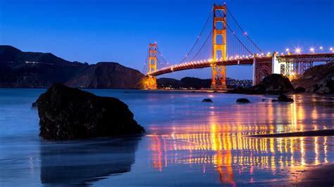 Golden Gate Bridge Supreme Iphone All Hp обои калифорния сан франциско пролив ночь мост огни камни отражение картинки на рабочий