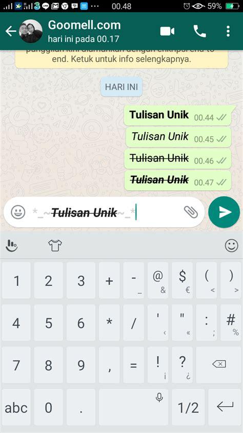 cara membuat gambar bergerak di whatsapp cara membuat tulisan unik di whatsapp goomell