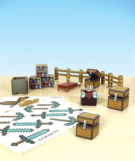 Minecraft Papercraft Utility Pack - jazwares shows range of minecraft papercraft