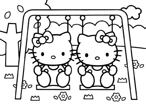 printable coloring pages of hello kitty and friends hello kitty and friends pictures coloring home