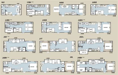 Forest River Rv Floor Plans | forest river cherokee grey wolf floorplans