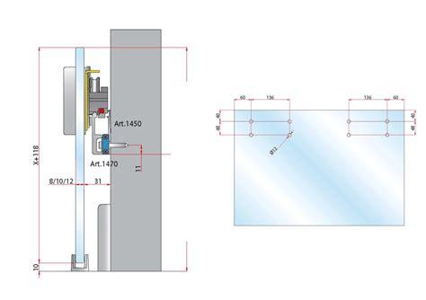 porta air guarnitura air porta in vetro con fermo ammortizzato