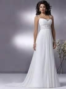 Chiffon Wedding Dress 2010 Simple Style Wedding Dress Chiffon Crystal Beading Banded Straps Prlog