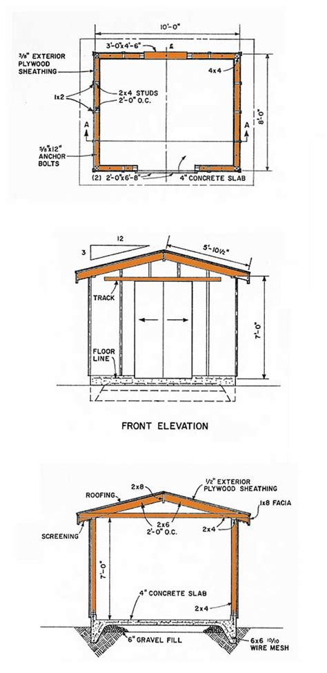 8x10 Storage Shed Plans by Tsle Wood Shed Plans 8x10