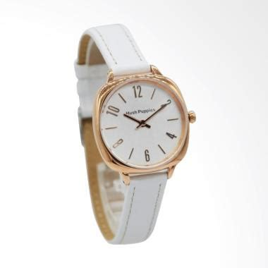 Jam Tangan Wanita Hush Puppies Romawi Bulat Putih jual hush puppies hp 5013l 2501 square shape analog jam tangan wanita putih harga