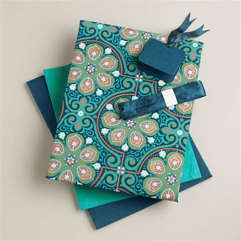 Handmade Fabric Gifts - blue nomad tiles handmade fabric gift box kit world market