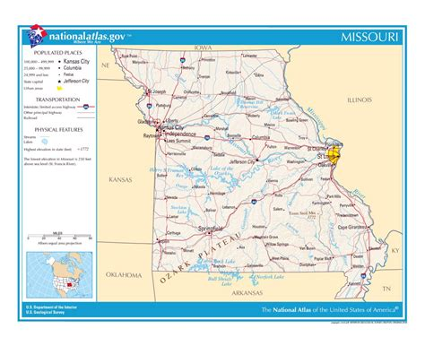 missouri map detailed maps of missouri state collection of detailed maps of