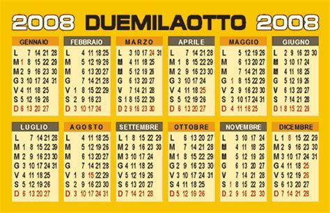 Calendario Ano 2008 Calendario 2008 Vettoriale