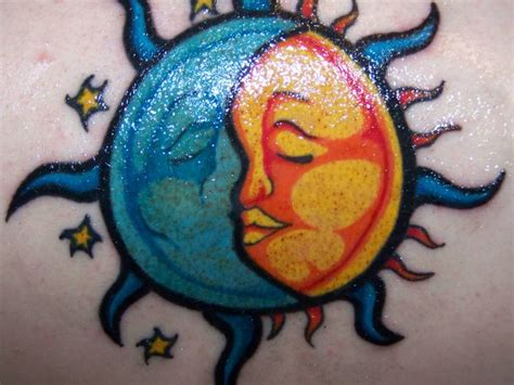 half sun half moon tattoo almost done half pictures to pin on
