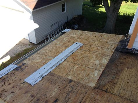 porch roof replacement w rail repair edgerton ohio