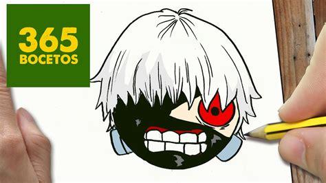 imagenes kawai de tokyo ghoul como dibujar kaneki tokyo ghoul kawaii paso a paso