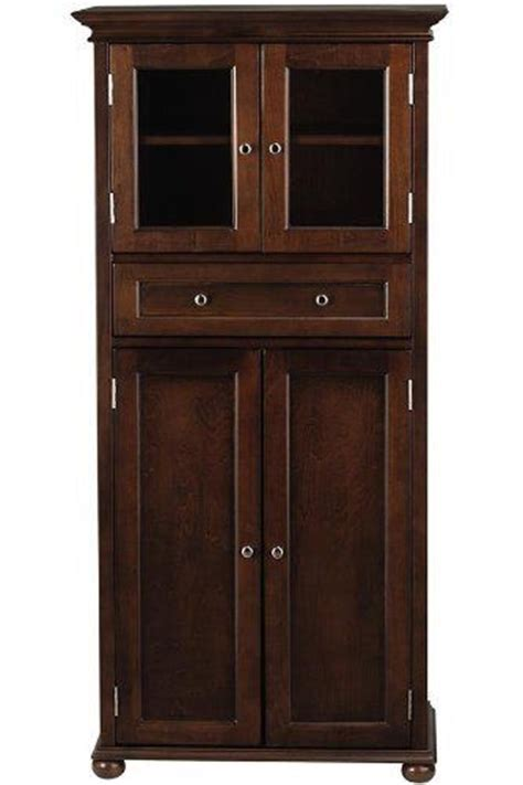 South Bay Cabinets by Hampton Bay 1 Drawer Tall Storage Cabinet 4 Door Sequoia