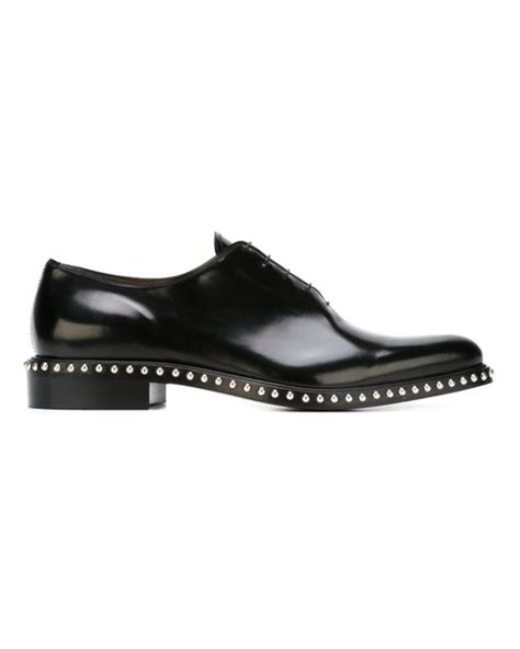 studded oxford shoes givenchy studded oxford shoes in black for lyst