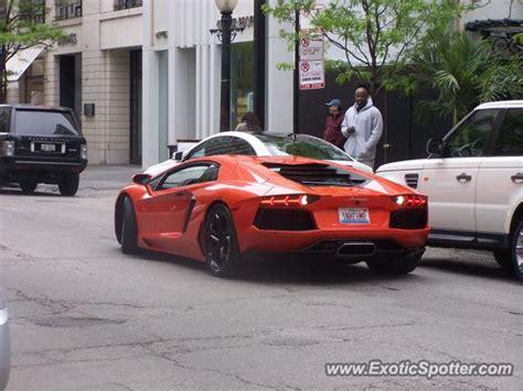 Lamborghini Of Chicago Lamborghini Aventador Spotted In Chicago Illinois On 05