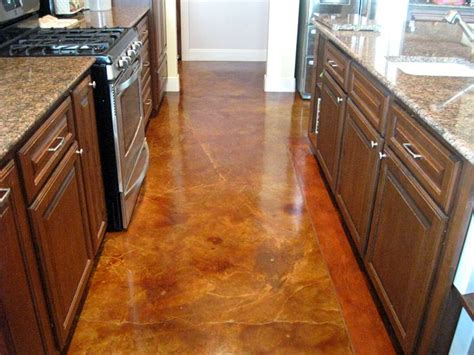 prepping to stain concrete in the kitchen concrete stain ideas around the house pinterest