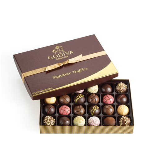 godiva chocolate 24 pc signature chocolate truffles gift box godiva