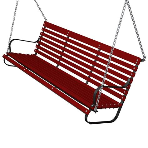 red patio swing ivy terrace 60 in black and sunset red patio swing