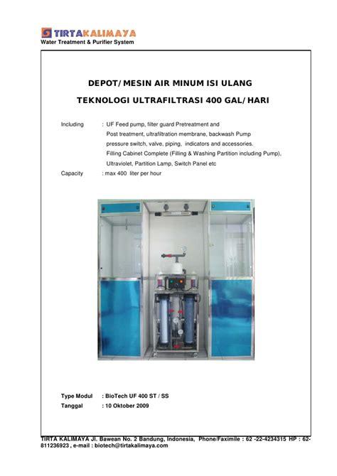 Revo System Air Isi Ulang air minum isi ulang ultrafiltrasi 400 gal hari