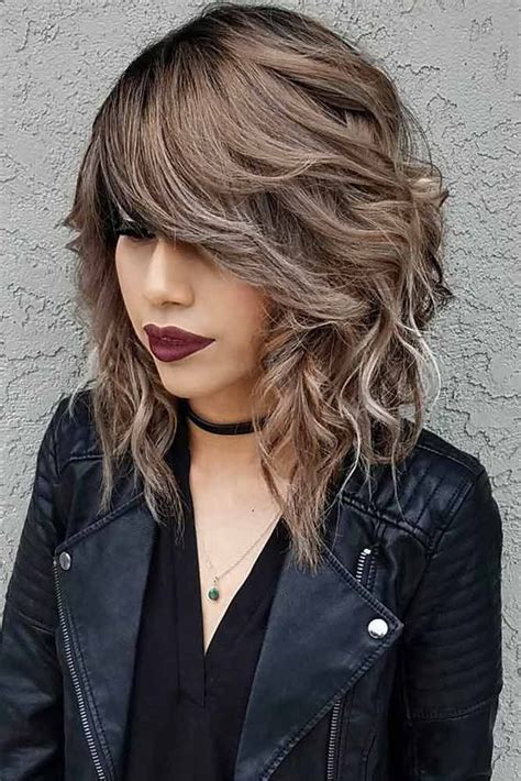 collar length hairstyle choppy the 25 best textured bangs ideas on pinterest bangs