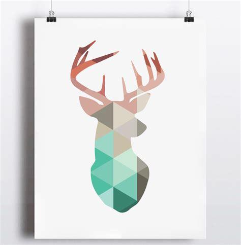 Canvas Decor Deer Geometric aliexpress buy geometric coral deer canvas